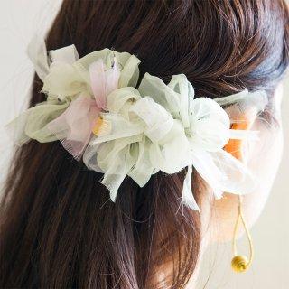 オオデマリ|彩る咲き編みバレッタ/ヘアクリップ