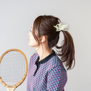 タンポポ|彩る咲き編みバレッタ/ヘアクリップ