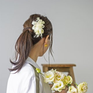 mini|タンポポ|彩る咲き編みバレッタ/ヘアクリップ