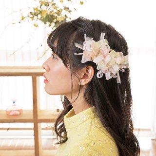 サクラ|彩る咲き編みバレッタ/ヘアクリップ
