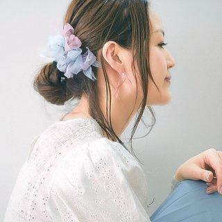 mini|アジサイ|彩る咲き編みバレッタ/ヘアクリップ