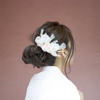 パステル|彩る咲き編みバレッタ/ヘアクリップ
