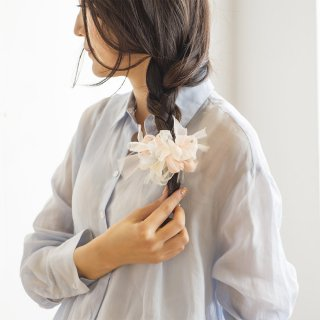 mini|パステル|彩る咲き編みバレッタ/ヘアクリップ