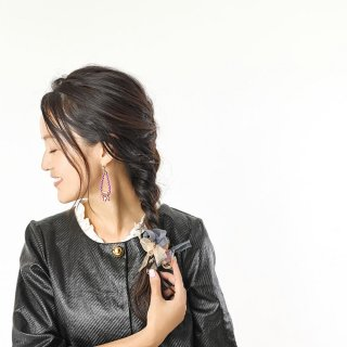 mini|ベーシック|彩る咲き編みバレッタ/ヘアクリップ