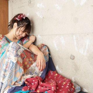 mini|ワイン|彩る咲き編みバレッタ/ヘアクリップ