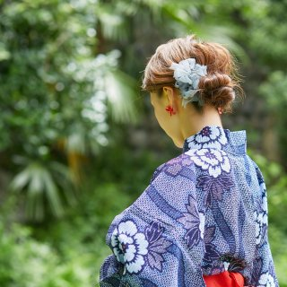 mini|出目金|彩る咲き編みバレッタ/ヘアクリップ