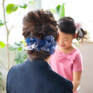 【party】夜空|彩る咲き編みバレッタ/ヘアクリップ