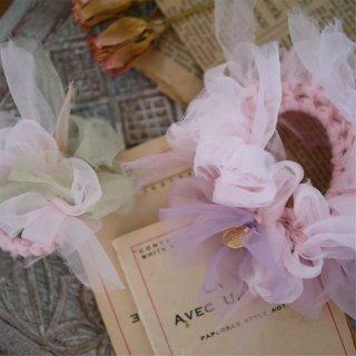 レンゲ|彩る咲き編みシュシュ
