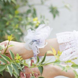 mini|スミレ|咲き編みシュシュ