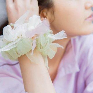 オオデマリ|彩る咲き編みシュシュ
