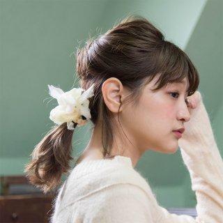mini|タンポポ|咲き編みシュシュ