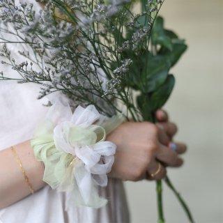 mini|サクラ|咲き編みシュシュ
