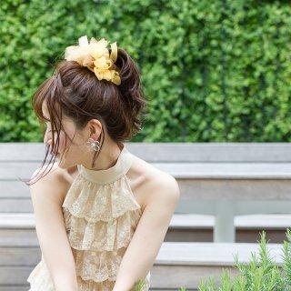 ヒマワリ|彩る咲き編みシュシュ