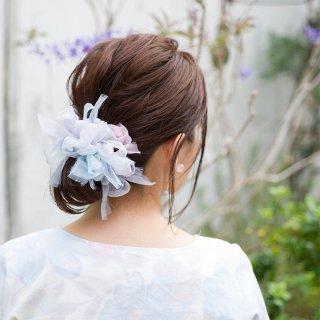 アジサイ|彩る咲き編みシュシュ