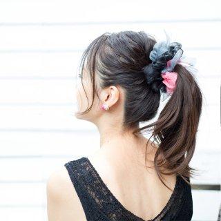 ラブ|彩る咲き編みシュシュ