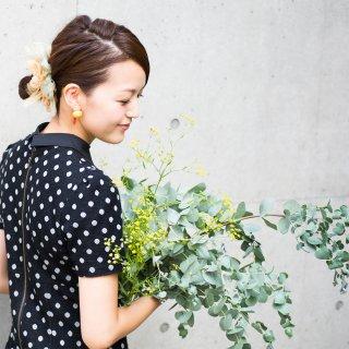 パンプキン|彩る咲き編みシュシュ