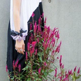 魔女|彩る咲き編みシュシュ