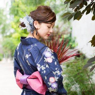 出目金|彩る咲き編みシュシュ