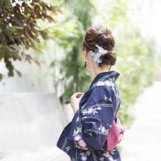 mini|出目金|咲き編みシュシュ