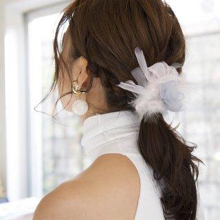 【冬季限定】mini|シャーベット|咲き編みシュシュ