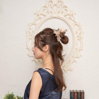 【秋冬限定】mini|マロン|咲き編みシュシュ