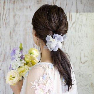 【春限定】mini|ビオラ|咲き編みシュシュ