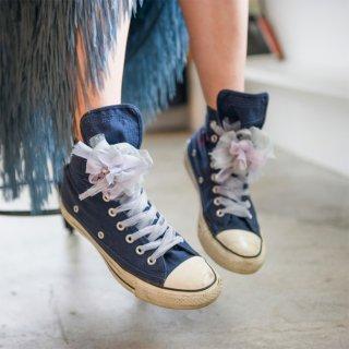 スミレ|彩る咲き編みシューズクリップ