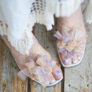 ミルクティ|彩る咲き編みシューズクリップ