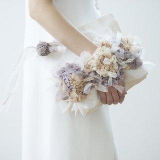 セレブレーション|咲き編みポシェット・クラッチ(畳縁)