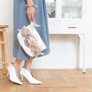 セレブレーション|咲き編みクラッチ・ハンドバッグ(畳縁)