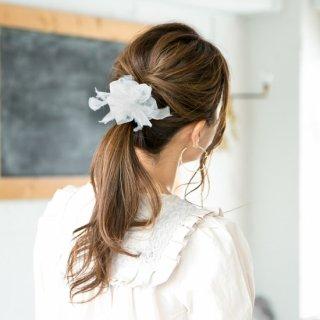 mini|party|スノーホワイト|咲き編みシュシュ