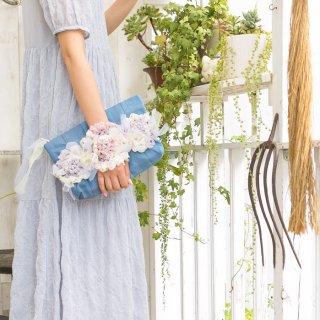 レディ|咲き編みクラッチ・ハンドバッグ(畳縁)
