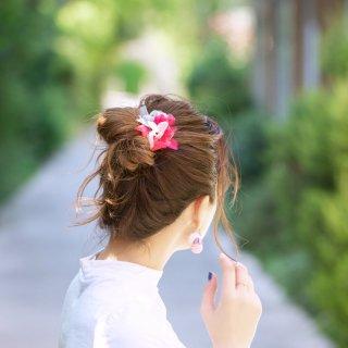 彩る咲き編みヘアゴム|ベリー