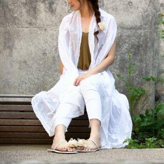 彩る咲き編みヘアゴム|ビーチ