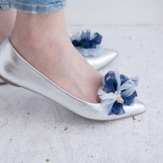 マリン|彩る咲き編みシューズクリップ
