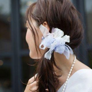 【9/31迄】mini|ドルフィン|彩る咲き編みシュシュ