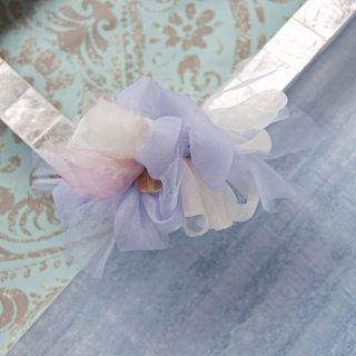 【限定】mini ドルフィン 彩る咲き編みバレッタ/ヘアクリップ