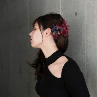 【party】ルージュ | 彩る咲き編みバレッタ/ヘアクリップ