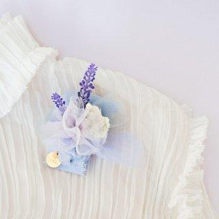 ラベンダー咲くコサージュ|咲き編みマリアージュ