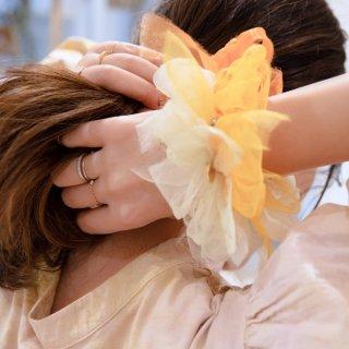 ポピー|彩る咲き編みシュシュ
