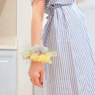 【限定】レモンスカッシュ|彩る咲き編みシュシュ