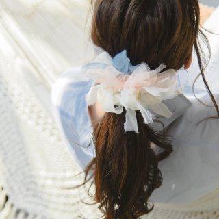 【OUTLET】パステル|彩る咲き編みシュシュ