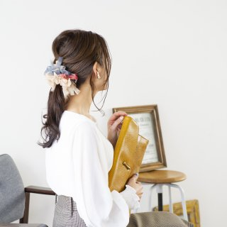 【OUTLET】ベーシック|彩る咲き編みシュシュ