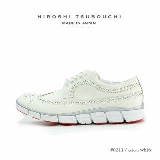 HIROSHI TSUBOUCHI ヒロシツボウチ 日本製 本革 ウイングチップ スニーカー ハイブリットシューズ (ht-0210)