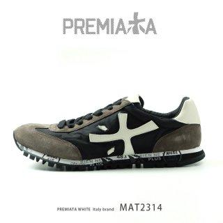 PREMIATA WHITE プレミアータ ホワイト MAT 2314 メンズ 本革 厚底 大人スニーカー (pre-mat2314)