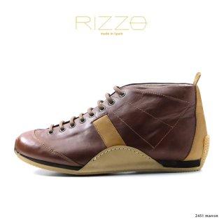 RIZZO リゾ  本革レザーシューズ 2451 marron(rz2451-172marron)