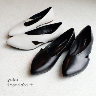 <img class='new_mark_img1' src='https://img.shop-pro.jp/img/new/icons23.gif' style='border:none;display:inline;margin:0px;padding:0px;width:auto;' />yuko imanishi+ 本革 フラットパンプス (yuko701045)