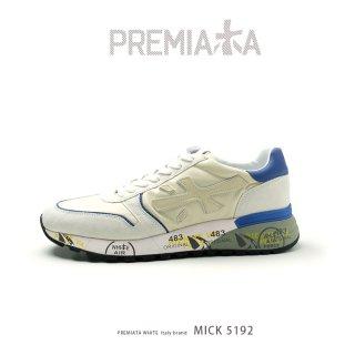 PREMIATA WHITE プレミアータ ホワイト MICK 4015 メンズ 本革 厚底 大人スニーカー (pre-mick5192)