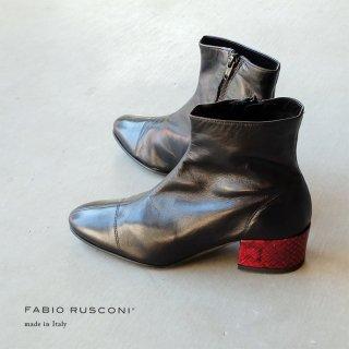 FABIO RUSCONI ファビオルスコーニ 赤ヒールブーツ(fabio5537)