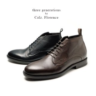 three generations by Calzaturificio Florence イタリア製チャッカ—ブーツ(tg30230)
